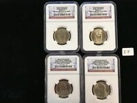 4 DIFFERENT 2008,09,10 PRESIDENTIAL DOLLARS  NGC BU FIRST DAY OF ISSUE   E8