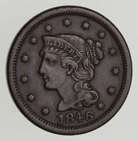 1846 BRAIDED HAIR LARGE CENT - CIRCULATED 7202
