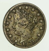 1885 LIBERTY V NICKEL - WITH CENTS - CIRCULATED 5882