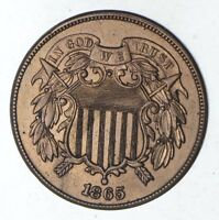 1865 TWO-CENT PIECE - CHOICE 9200