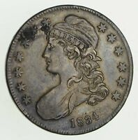 1834 CAPPED BUST HALF DOLLAR - SHARP 9449