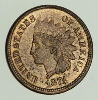 1874 INDIAN HEAD CENT - NEAR UNCIRCULATED 4348
