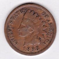 1898 INDIAN HEAD CENT IN GOOD CONDITION : STK G31