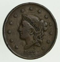 1837 YOUNG HEAD LARGE CENT - CIRCULATED 9515