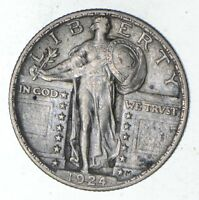 1924 STANDING LIBERTY SILVER QUARTER - CIRCULATED 9225