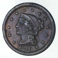 1848 BRAIDED HAIR LARGE CENT - CIRCULATED 9255