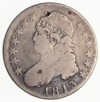 ERRROR - 1813 CAPPED BUST HALF DOLLAR CLASHED DIE ABOVE DATE 2457