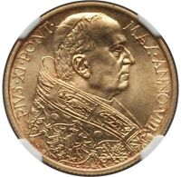 VATICAN CITY 1929 100 LIRE GOLD COIN, GEM UNCIRCULATED, CERTIFIED NGC MINT STATE 65