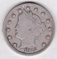 1912 LIBERTY NICKEL IN FINE CONDITION   STK F115