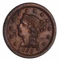 1853 BRAIDED HAIR LARGE CENT - CIRCULATED 1471