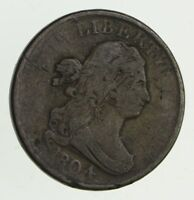 1804 DRAPED BUST HALF CENT - CIRCULATED 9497