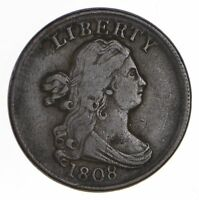 1808 DRAPED BUST HALF CENT - CIRCULATED 0681