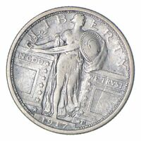 1917-S STANDING LIBERTY SILVER QUARTER - TYPE 1 - CIRCULATED 0214