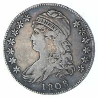 1808/7 CAPPED BUST HALF DOLLAR - CIRCULATED 0362