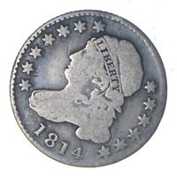 1814 CAPPED BUST DIME - SD - CIRCULATED 0163