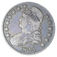 1824 CAPPED BUST HALF DOLLAR - CIRCULATED 0276
