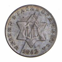 1852 SILVER THREE-CENT PIECE - TRIME - CIRCULATED 9775