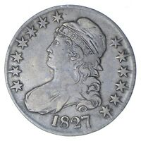1827 CAPPED BUST HALF DOLLAR - CIRCULATED 0275