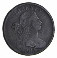 1803 DRAPED BUST LARGE CENT - CIRCULATED 9912