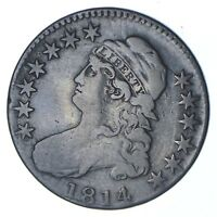 1814/3 CAPPED BUST HALF DOLLAR - CIRCULATED 0356