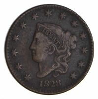 1828 MATRON HEAD LARGE CENT - CIRCULATED 9907
