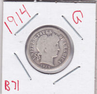 1914 BARBER DIME IN GOOD  CONDITION STK B71
