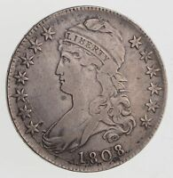 1808 CAPPED BUST HALF DOLLAR - CIRCULATED 7563