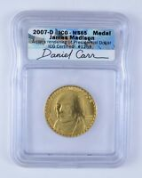 MINT STATE 65 2007-D JAMES MADISON MEDAL - ICG GRADED 6299