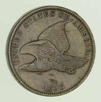 1858 FLYING EAGLE CENT - CIRCULATED 9986