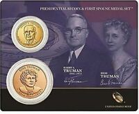 2015 HARRY TRUMAN PRESIDENTIAL DOLLAR AND FIRST SPOUSE MEDAL SET