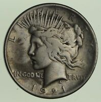 1921 PEACE SILVER DOLLAR - CIRCULATED 5717