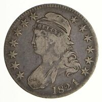 1824/4 CAPPED BUST HALF DOLLAR - CIRCULATED 6987