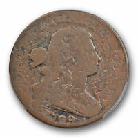 1799 1C  DRAPED BUST CENT PCGS AG DETAILS S 189 SHELDON KEY DATE STRONG DATE
