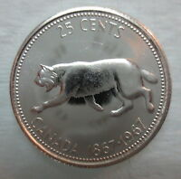 1967 CANADA 25 CENTS PROOF LIKE SILVER QUARTER COIN