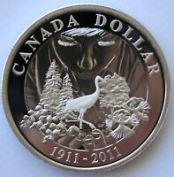 2011 CANADA 100TH ANN OF NATIONAL PARKS PROOF SILVER DOLLAR