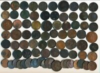 78 OLD CANADA TOKENS & LARGE CENT  ALL CULLS   SEE IMAGES >