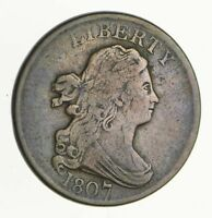 1807 DRAPED BUST HALF CENT - CIRCULATED 2798