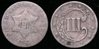 1853  THREE CENT SILVER - SCRATCHES