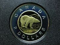 2003 CANADIAN SILVER PROOF TOONIE  $2.00    TONED