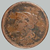 1850 1C N-? BRAIDED HAIR CENT, SEE DESCRIPTION -  COIN CORROSION REMOVED -