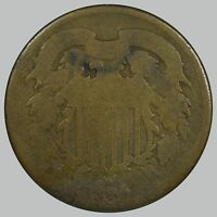 1864 SHIELD TWO CENTS