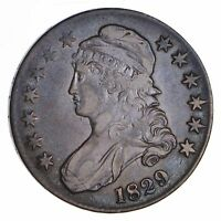 1829 CAPPED BUST HALF DOLLAR - CIRCULATED 8521