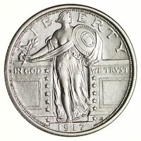 1917 STANDING LIBERTY QUARTER - CHOICE 6849