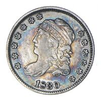 1830 CAPPED BUST HALF DIME - LM-6 - CIRCULATED 0312