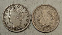 LOT OF 42 LIBERTY NICKELS, 1901 TO 1912-D, FINE, FULL LIBERTY    1101-02