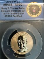 PERFECT 2015P HARRY TRUMAN CHRONICLES ANACS RP70 REVERSE PROOF FIRST STRIKE COIN