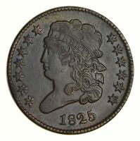 1825 CLASSIC HEAD HALF CENT - CIRCULATED 5323