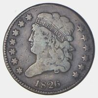 1826 CLASSIC HEAD HALF CENT - CIRCULATED 5846
