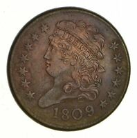 1809 CLASSIC HEAD HALF CENT - SHARP 1034