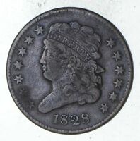 1828 CLASSIC HEAD HALF CENT - CIRCULATED 9331